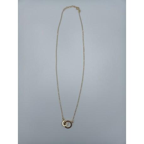 Naszyjnik celebrytka kółka płaskie srebro pozłacane pr.925