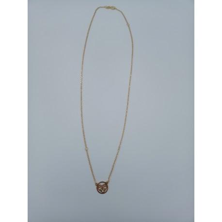 Naszyjnik celebrytka ażurowe serce srebro pozłacane pr.925