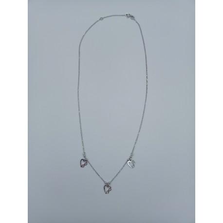Naszyjnik celebrytka serca ze znakiem nieskończoności srebro pr.925