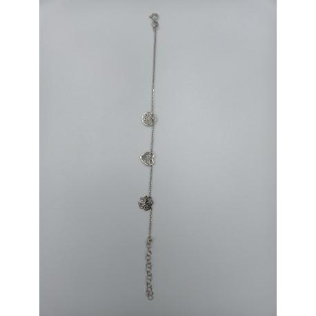 Bransoletka ażurowe elementy srebro pr.925